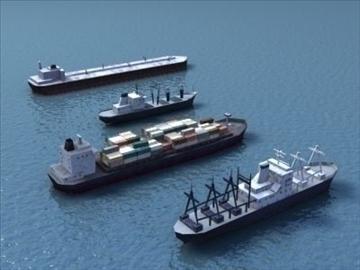 4civilian ships_3dmodels 3d model 3ds max 99295