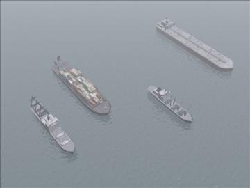 4civilian ships_3dmodels 3d model 3ds max 99296