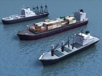 4civilian ships_3dmodels 3d model 3ds max 99297