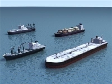 4civilian ships_3dmodels 3d model 3ds max 99298