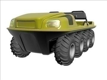 8x8 amphibious vehicle 3d model max dxf 95837