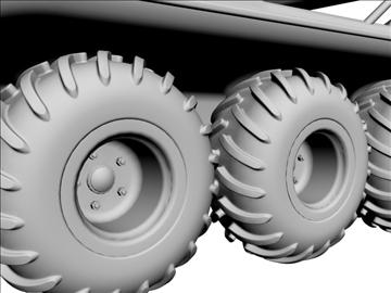 8x8 amphibious vehicle 3d model max dxf 95842