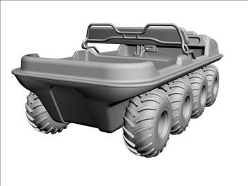 8x8 amphibious vehicle 3d model max dxf 95843