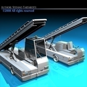 airport baggage loader vehicle 3d model 3ds dxf c4d obj 86604