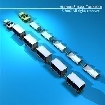 airport baggage trailer 3d model 3ds dxf c4d obj 85582