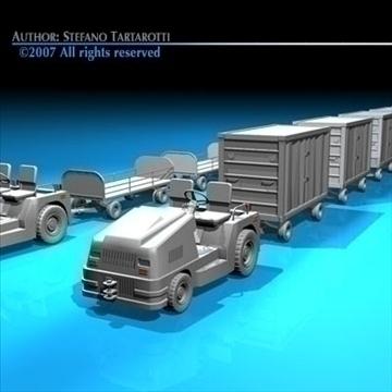 airport baggage trailer 3d model 3ds dxf c4d obj 85584