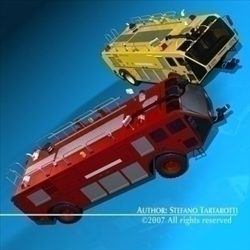 airport firetruck 3d model 3ds dxf c4d obj 85504