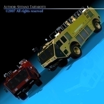 airport firetruck 3d model 3ds dxf c4d obj 85505