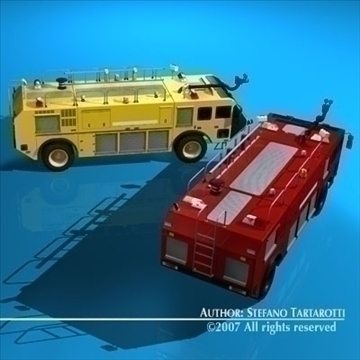 airport firetruck 3d model 3ds dxf c4d obj 85508