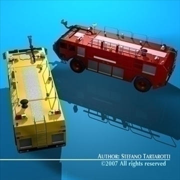 airport firetruck 3d model 3ds dxf c4d obj 85509