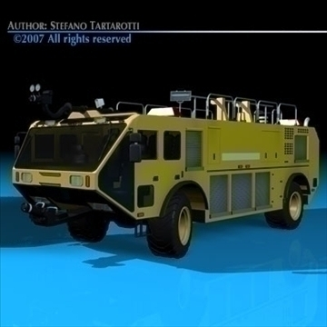 airport firetruck 3d model 3ds dxf c4d obj 85510