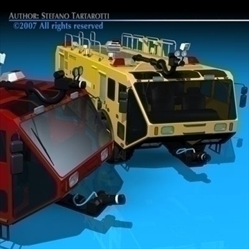 airport firetruck 3d model 3ds dxf c4d obj 85511