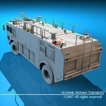 airport firetruck 3d model 3ds dxf c4d obj 85512