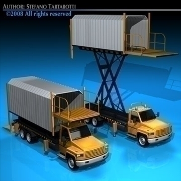 airport loading vehicle 3d modelo 3ds dxf c4d obj 86298