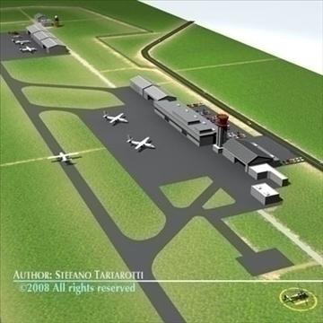 airport scenario 3d model 3ds dxf fbx c4d dae obj 88597