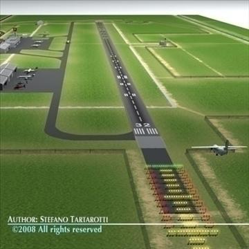 airport scenario 3d model 3ds dxf fbx c4d dae obj 88600