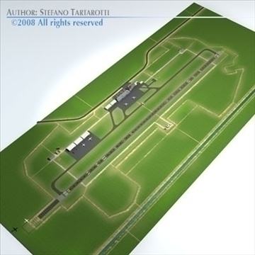 airport scenario 3d model 3ds dxf fbx c4d dae obj 88601