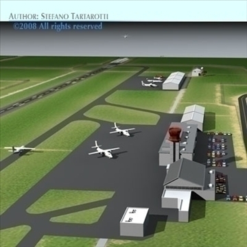 airport scenario 3d model 3ds dxf fbx c4d dae obj 88603