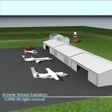 airport scenario 3d model 3ds dxf fbx c4d dae obj 88604