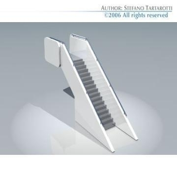 airport stair 3d model 3ds dxf obj 78404