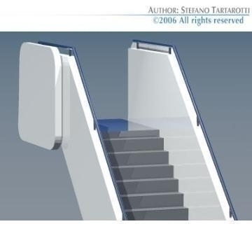 airport stair 3d model 3ds dxf obj 78407