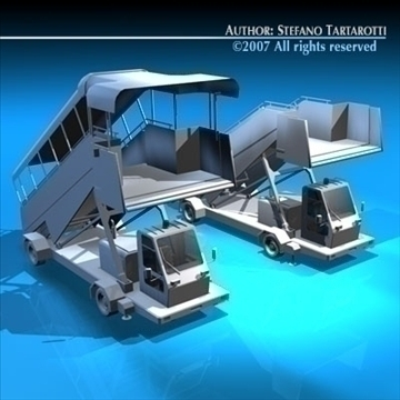 airport stairs vehicle 3d model 3ds dxf c4d obj 85566