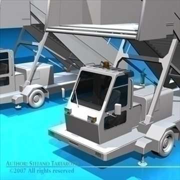 airport stairs vehicle 3d model 3ds dxf c4d obj 85568