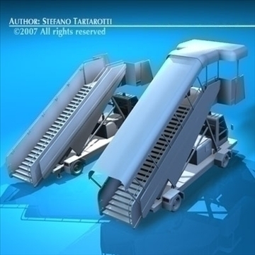 airport stairs vehicle 3d model 3ds dxf c4d obj 85569