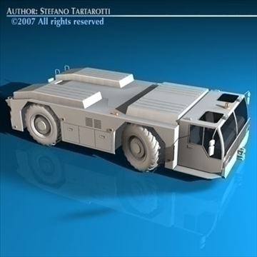 airport tow tractor 3d model 3ds dxf c4d obj 85602