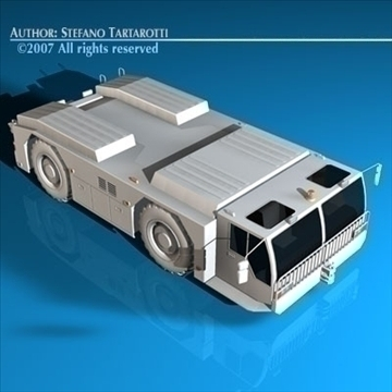 airport tow tractor 3d model 3ds dxf c4d obj 85603
