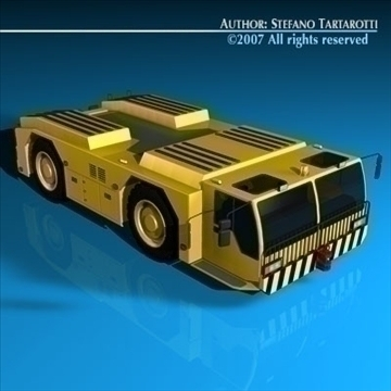 airport tow tractor 3d model 3ds dxf c4d obj 85606