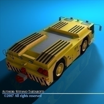 airport tow tractor 3d model 3ds dxf c4d obj 85607