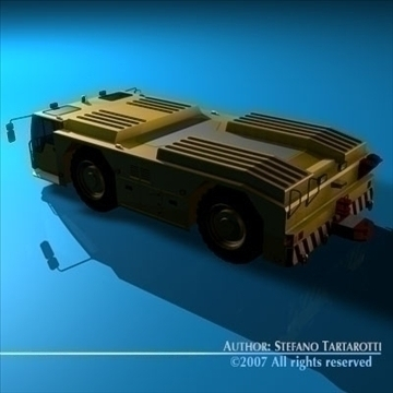 airport tow tractor 3d model 3ds dxf c4d obj 85608