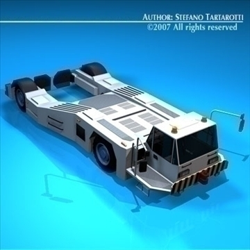 airport tow tractor2 3d model 3ds dxf c4d obj 85637