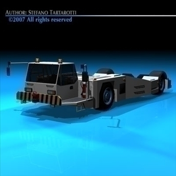 airport tow tractor2 3d model 3ds dxf c4d obj 85638