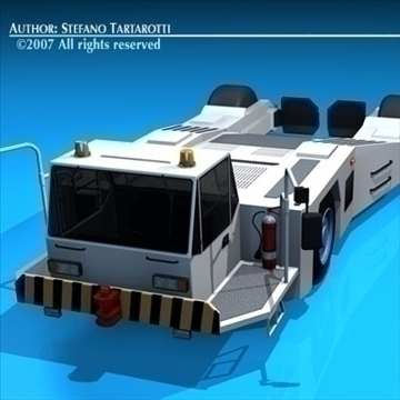 airport tow tractor2 3d model 3ds dxf c4d obj 85643