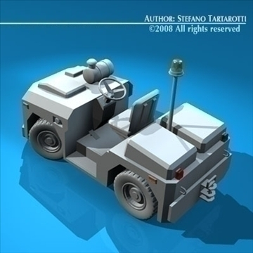 airport tow tractor3 3d model 3ds dxf c4d obj 85680