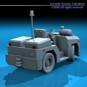 airport tow tractor3 3d model 3ds dxf c4d obj 85682
