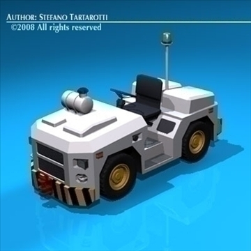airport tow tractor3 3d model 3ds dxf c4d obj 85683