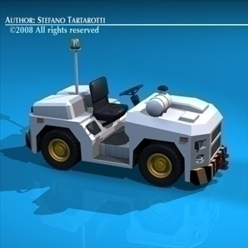 airport tow tractor3 3d model 3ds dxf c4d obj 85684