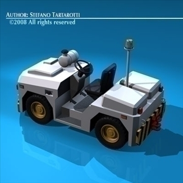 airport tow tractor3 3d model 3ds dxf c4d obj 85686