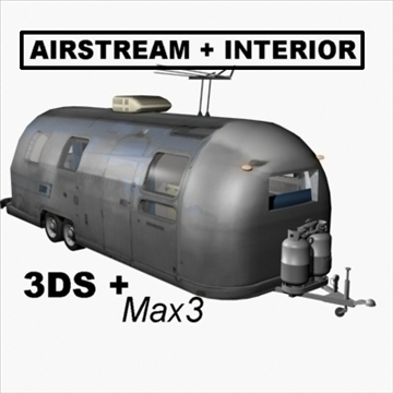 airstream trailer with interior 3d model 3ds max 80707