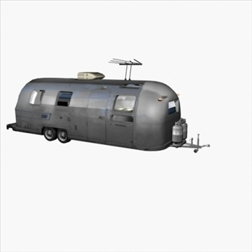 airstream trailer with interior 3d model 3ds max 80708