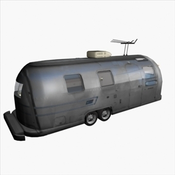 airstream trailer with interior 3d model 3ds max 80709