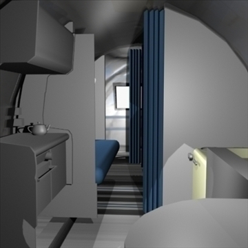 airstream trailer with interior 3d model 3ds max 80711