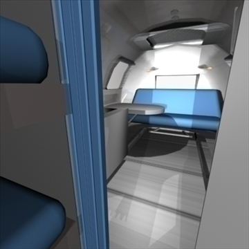 airstream trailer with interior 3d model 3ds max 80714