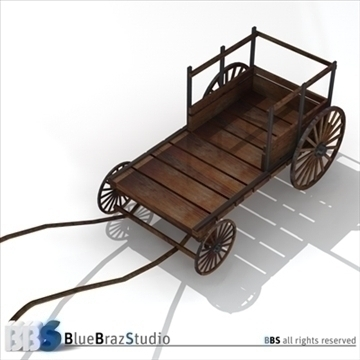 ancient chariot 2 3d model 3ds dxf c4d obj 106782