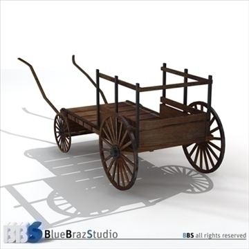 ancient chariot 2 3d model 3ds dxf c4d obj 106784