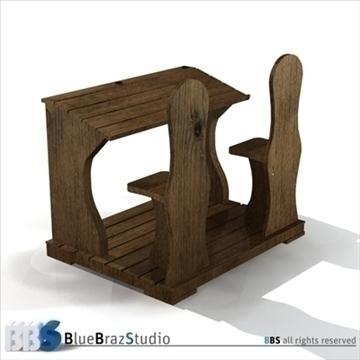 ancient school desk 3d model 3ds dxf c4d obj 106871