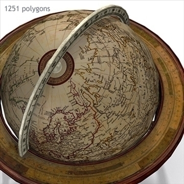 antique globe table 3d model max x other 93099